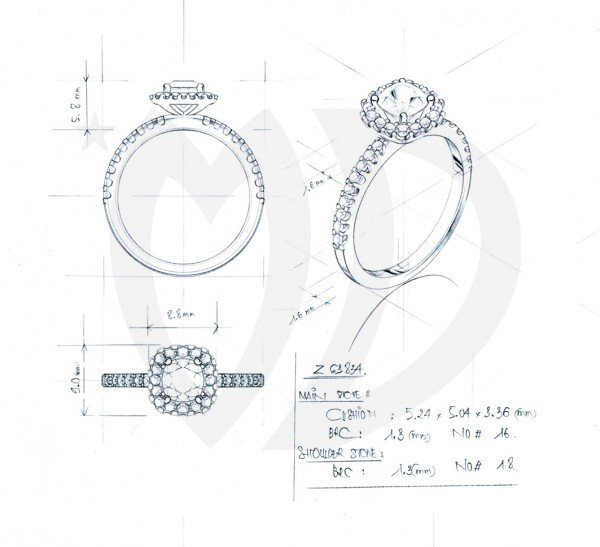 pave setting of a ring